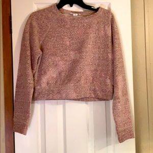 Crop top cotton sweater